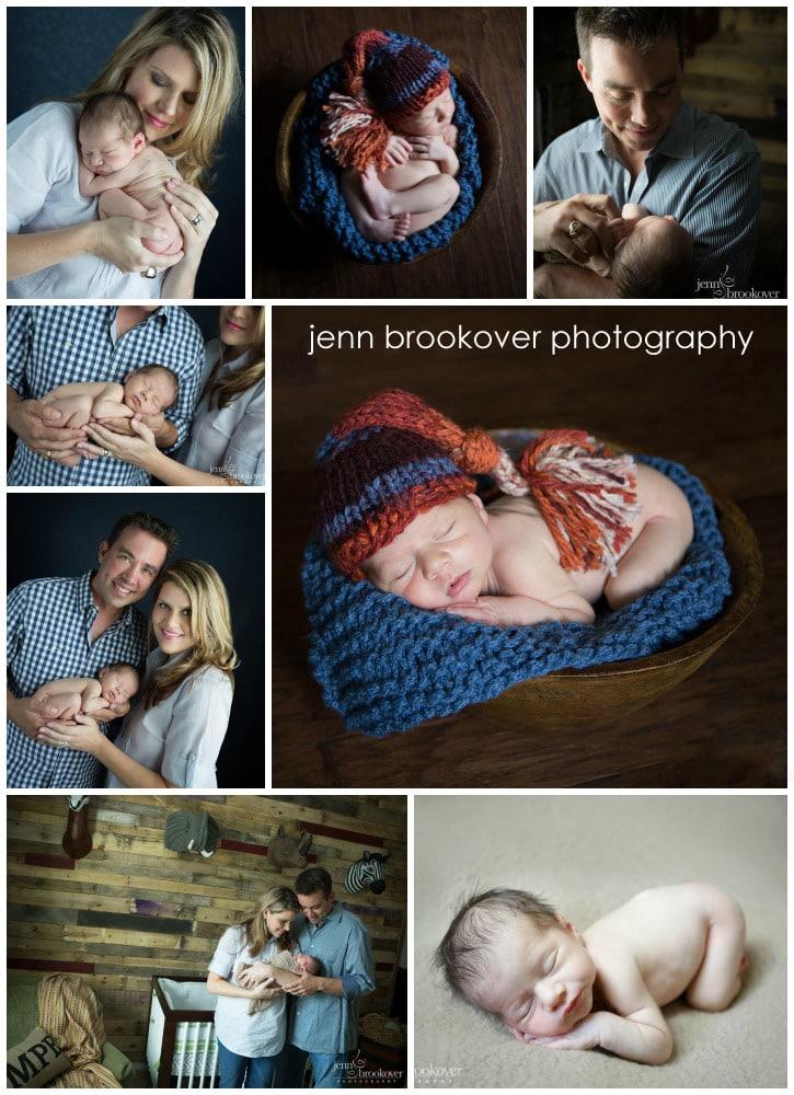 collage of newborn photos