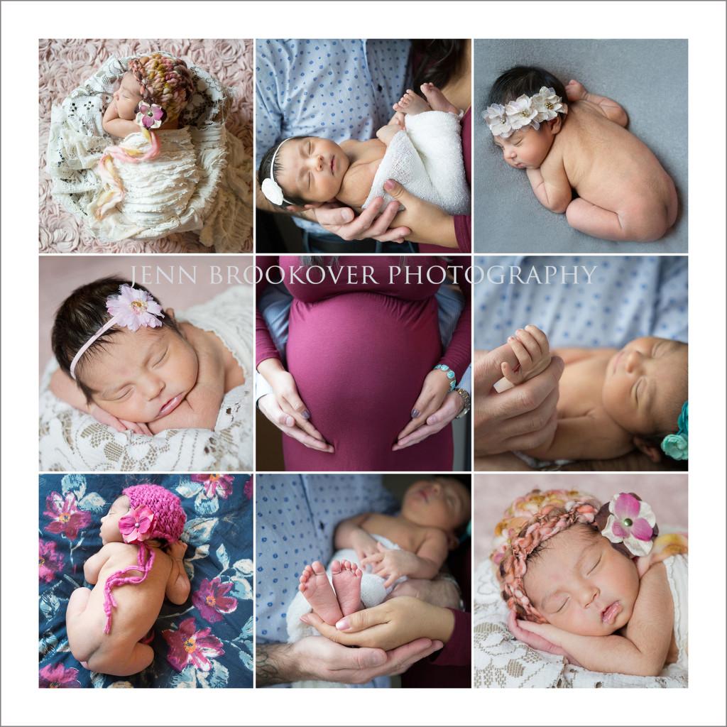 maternity and newborn portrait collage